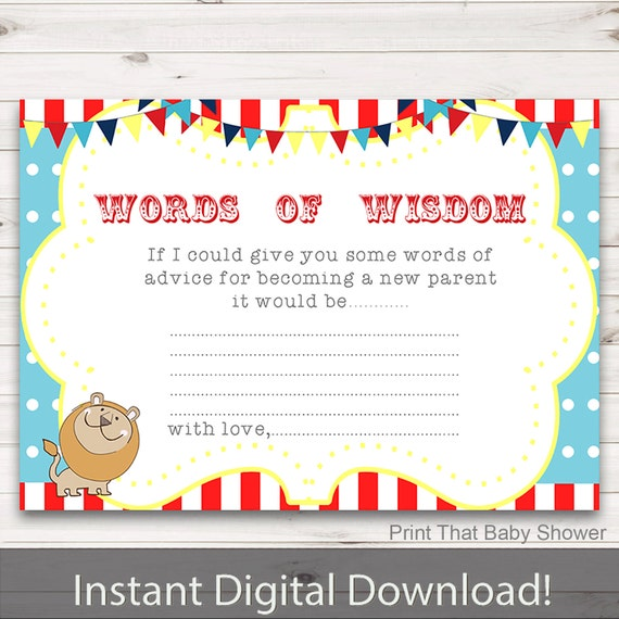 Baby Shower Tips For New Moms: Baby Shower Games Baby Words Of Wisdom Baby Advice Cards