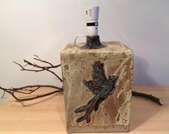 Ceramic Pheasant lamp