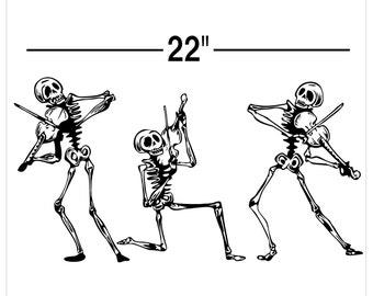 """Skeleten Band Decal 22"""" AA97"""