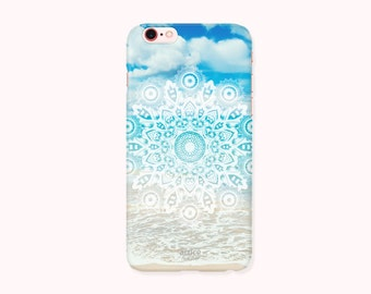 Final Sale BOHO iPhone 6S Case, iPhone 6S Cover, iPhone 6 Case, iPhone 6 Cover - Mandala on Beach