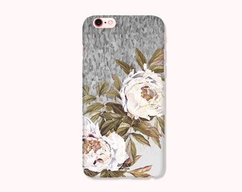 Floral iPhone 7 Case, iPhone 7 Plus Case, iPhone 6/6S Case, iPhone 6/6S Plus, iPhone 5/5S/SE Case, iPhone 5C Case - Mute Flower
