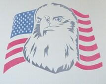 articles populaires correspondant eagle stencil sur etsy. Black Bedroom Furniture Sets. Home Design Ideas