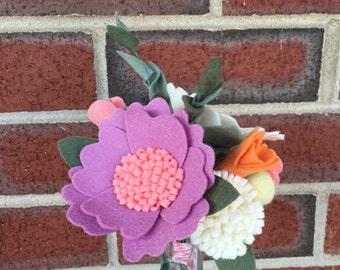 Ready to Ship: Felt Flower Bunch