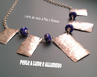 aluminium necklace and bracelet