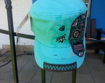 Sugar Skull Day of the Dead Cap