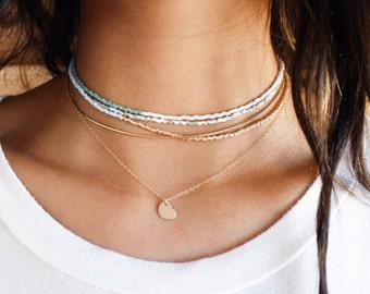 Tiny Gold Heart Necklace
