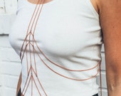 Julia Draped Body Chain Harness / chain lingerie / festival style accessories / burner girls / body jewelry / draped chain
