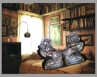 Horse Book Ends Heavy Crystal