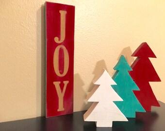 JOY wood sign, Christmas decor, Christmas decorations, wooden Joy sign, Xmas decor, Holidays decor, rustic holiday decor, Christmas display