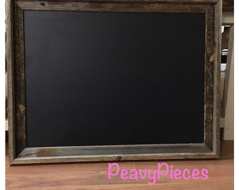 Large Chalkboard, barn wood frame chalkboard, chalkboards, Menu chalkboard, wedding sign, wedding decor, rustic chalkboard, photo prop