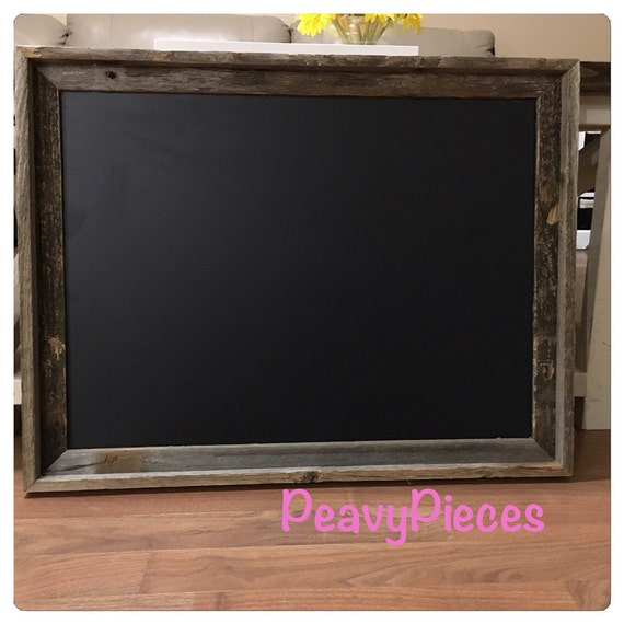 Large Chalkboard Barn Wood Frame Chalkboards Menu Wedding Sign Decor Rustic Photo Prop From PeavyPieces On