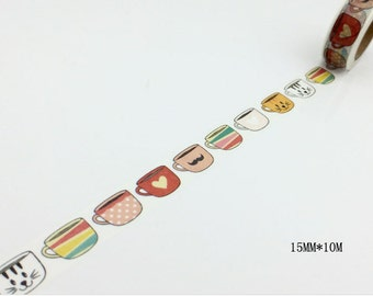 Tea Cup Washi Tape -- 15mm x 10M