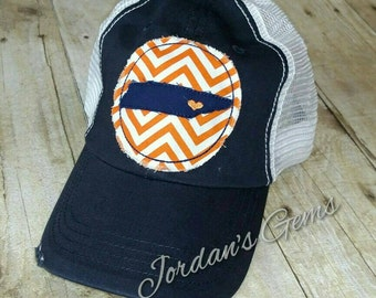 University of Tennessee Knoxville Love Navy and White Trucker Hat