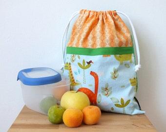 Dinosaur bag for kids, lunch bag, reusable snack bag for school