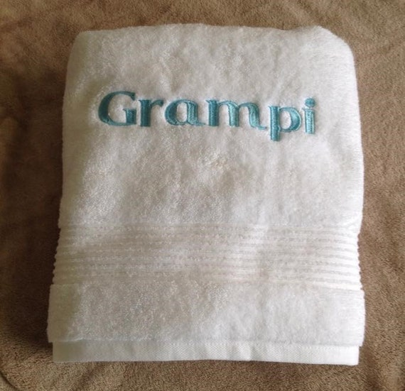 Personalized Embroidered Bath Towel Holiday Gift By