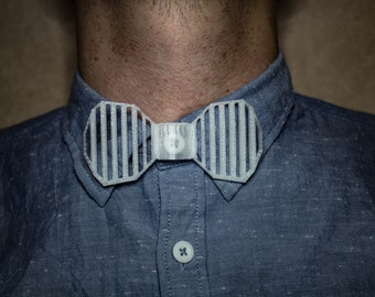 "3D Printed Bowtie ""The stripes"""