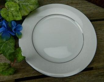 Set of 4 Vintage Mid Century Noritake Whitehall Dinner Plates - 6115