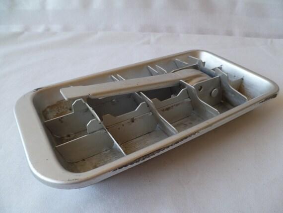 vintage aluminum metal ice cube tray. Black Bedroom Furniture Sets. Home Design Ideas