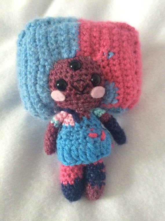 Steven Universe Amigurumi Pattern : Amigurumi Crochet Cotton Candy Garnet from Steven Universe