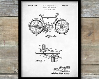 Patent Print, Bicycle Pedel Mechanism Poster, Bicycle Print, Bicycle Art, Bicycle Decor, Bicycle Blueprint, Bicycle Wall Art, P266