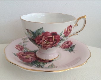 SALE 20% OFF Vintage Royal Standard Pretty Pink Teaset Duo1950s