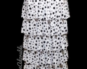 """The """"Lainey"""" Ruffle Skirt in Polka Dots"""