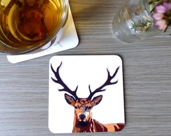 Stag Coaster. Deer. Stag. Countryside coaster