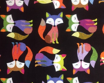 READY TO SHIP! Fabric by the 1/2 yard or .4572 meters. Fun Foxes Everywhere. Timeless Treasures Fabric. Woodland Critter. Children's Fabric.