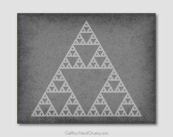 Science as Art - Sierpinski Triangle Fractal Print - Available as 8x10, 11x14 or 16x20