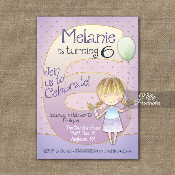 Girls 6th Birthday Invitations 6th Birthday Invitation – 6th Birthday Invitations
