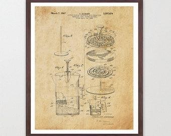 Coffee Patent - French Press - Kitchen Patent Poster - Kitchen Poster - Coffee Art - Patent Print - Patent Poster - Coffee Patent - Coffee
