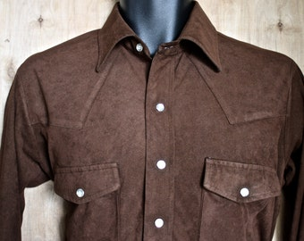 Arnel dress etsy for Mens chocolate brown shirt