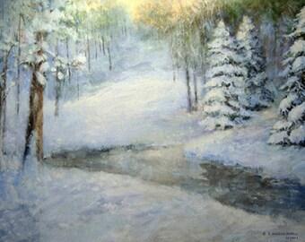 Printable wall art, wall art, winter scene, wall decor, digital print, INSTANT DOWNLOAD