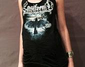 Ensiferm halter top shredded distressed tshirt xs s m l black metal heavy