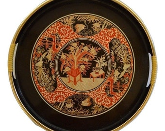 Vintage Japanese Tray Beautiful Designs 13""