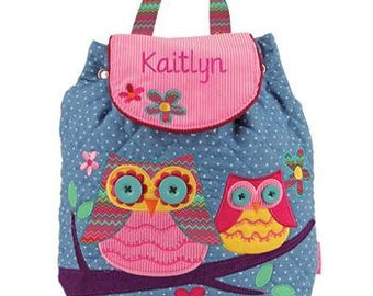 Personalized Owl Backpack, Owl Diaper Bag, Baby Shower Gift, School Backpack
