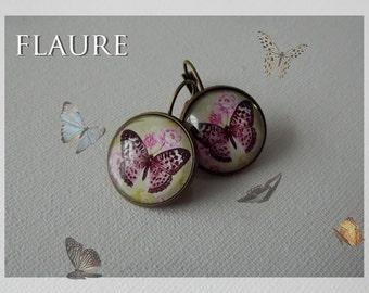 """bronze earrings """"butterfly"""""""