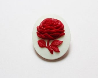Rose Red Brooch Pin