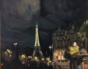 Paris Nights' Lights with Eiffel Tower