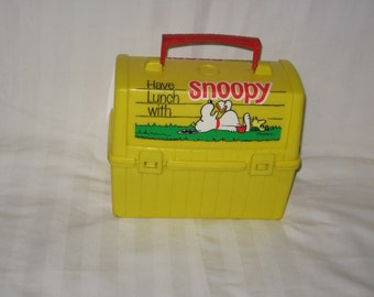 vintage 1968 thermos king-seeley have lunch with snoopy lunchbox