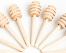 150 4 inch wood mini honey dippers