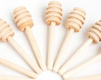 150 4 inch wood mini honey dippers   Box 31  