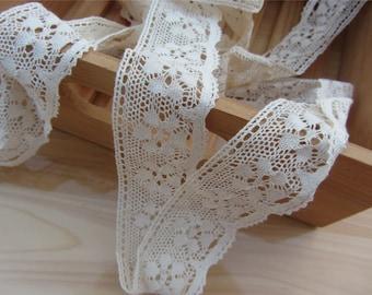 Exquisite cotton trimming ,Fine Cotton Thread Crochet Lace trim -LSC007-3cm cotton rose ribbon