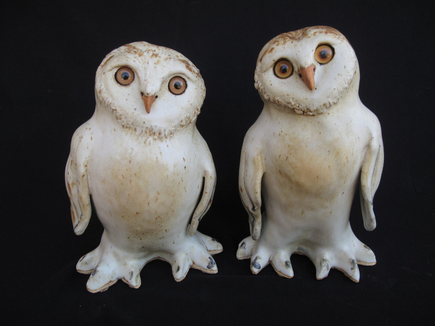 Owl Figurines Snowy Owl Sculptures Clay Owls For Home Decor