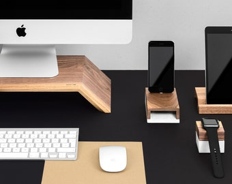 WoodUp OLYMP | Wooden monitor stand for iMac