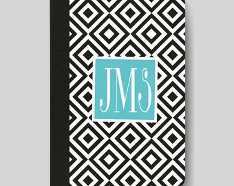 iPad Folio Case, iPad Air Case, iPad Air 2 Case, iPad 1 Case, iPad 2 Case, iPad 3 Case, iPad Mini 1 2 3 4, Black White Design Monogram Case