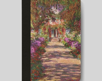 iPad Folio Case, iPad Air Case, iPad Air 2 Case, iPad 1 Case, iPad 2 Case, iPad 3 Case, - The Garden Path at Giverny by Claude Monet
