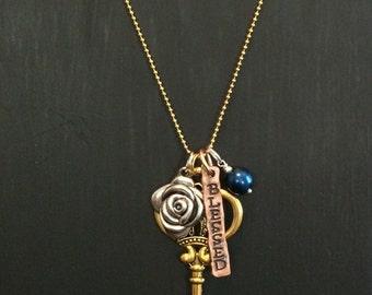 Whimiscal key charm necklace