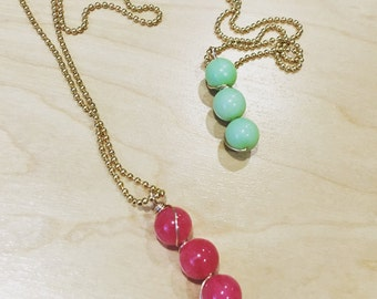 3 bead layering necklace