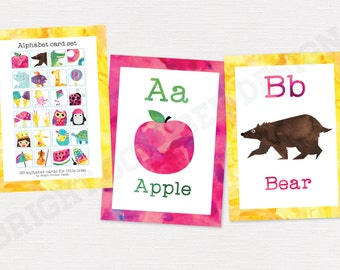 PRINTED Alphabet Flash Cards | 26 cards